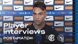 INTER 2-0 NAPOLI | LAUTARO MARTINEZ + BORJA VALERO EXCLUSIVE INTERVIEWS [SUB ENG]
