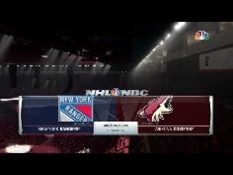 NHL 18 New York Rangers Vs Arizona Coyotes