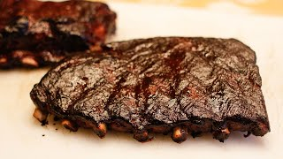 Pork St. Louis Style Ribs with Cherry Chipotle BBQ Sauce