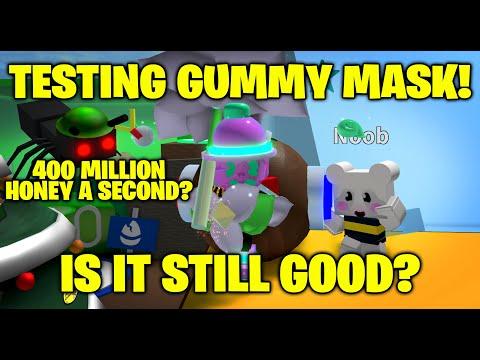 Testing Gummy Mask - 450 MILLION Honey A Second! - Bee Swarm Simulator