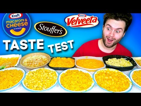 I tried every kind of MAC N' CHEESE from the store... BEST & WORST - Taste Test!