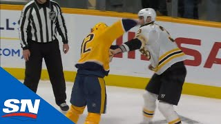 Zdeno Chara Stunned By Huge Right Hand From Yakov Trenin During Fight
