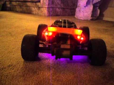 traxxas rustler vxl 10 led light setup youtube
