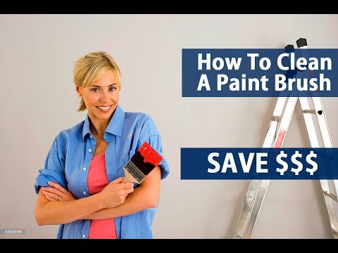 How To PROFESSIONALLY Clean A Paint Brush