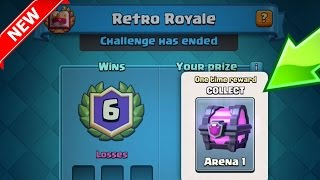 retro royale new challenge mode update   clash royale   1 year anniversary event