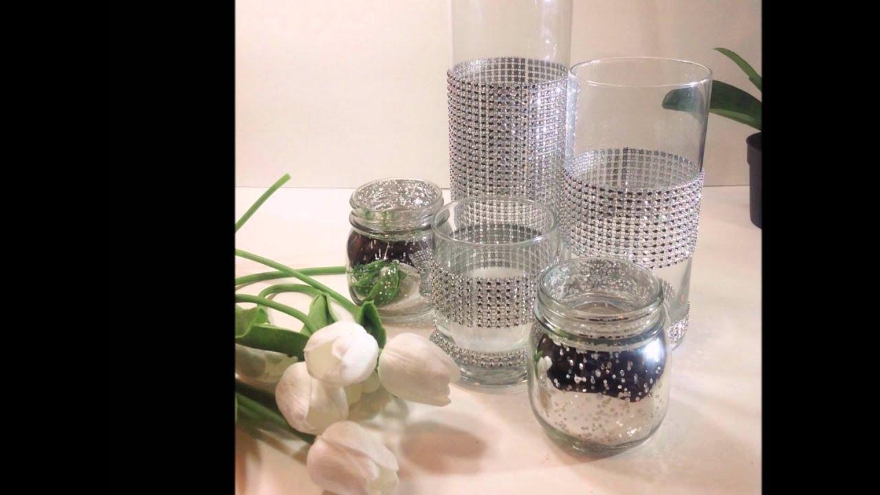 Gl Candle Holder Home Decor Custom Tall Cylinder Table Vase Set 5