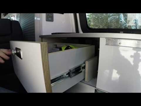 storage drawer operation recon campers nissan nv200. Black Bedroom Furniture Sets. Home Design Ideas