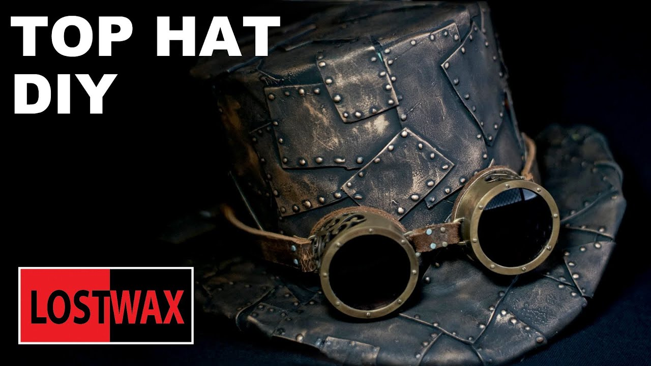 How To Make A Top Hat Diy Steampunk Fashion Pattern Tutorial Youtube