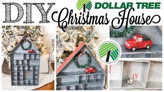 DIY Dollar Tree Christmas House | TARGET DUPE