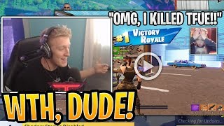 Tfue Reacts to Little Kid CRYING and Freaking Out After Killing Tfue! - Fortnite Moments