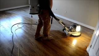 How it's done - Sanding, Staining, Varnishing Hardwood Floor