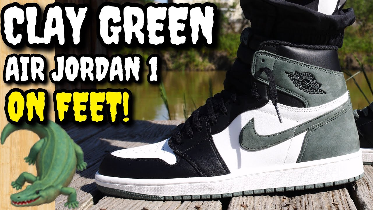 huge discount afbe1 837d4 CLAY GREEN AIR JORDAN 1 ON FEET REVIEW! WORTH THE HYPE!?