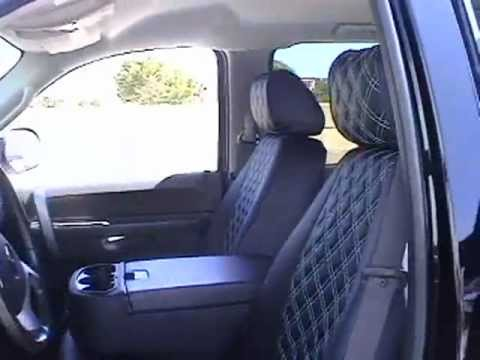 "Leather Car Seats >> Clazzio Custom Seat Cover ""Baby-Blue Diamond Quilt W Stitching"" for Pick-up Truck - YouTube"