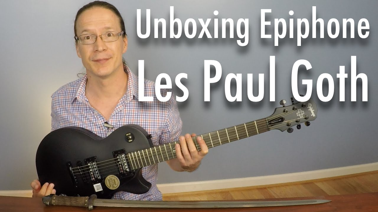 unboxing epiphone les paul studio goth electric guitar youtube. Black Bedroom Furniture Sets. Home Design Ideas