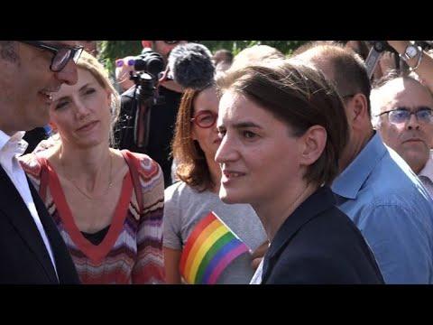 Serbia's Gay PM Joins Belgrade Pride March