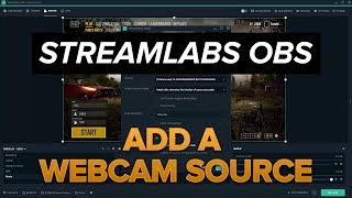 Add a Webcam source in Streamlabs OBS
