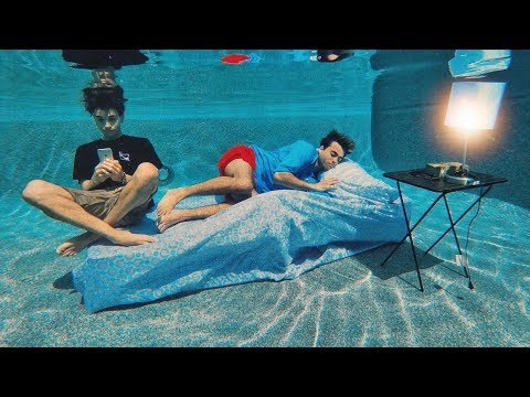 LIVING UNDER WATER FOR 24 HOURS CHALLENGE!