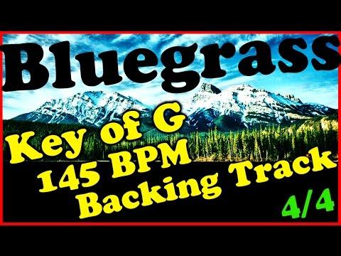 Bluegrass Backing Track in G Major - 145 BPM Extended Chords Jam Track   Mandolin   Banjo   Fiddle