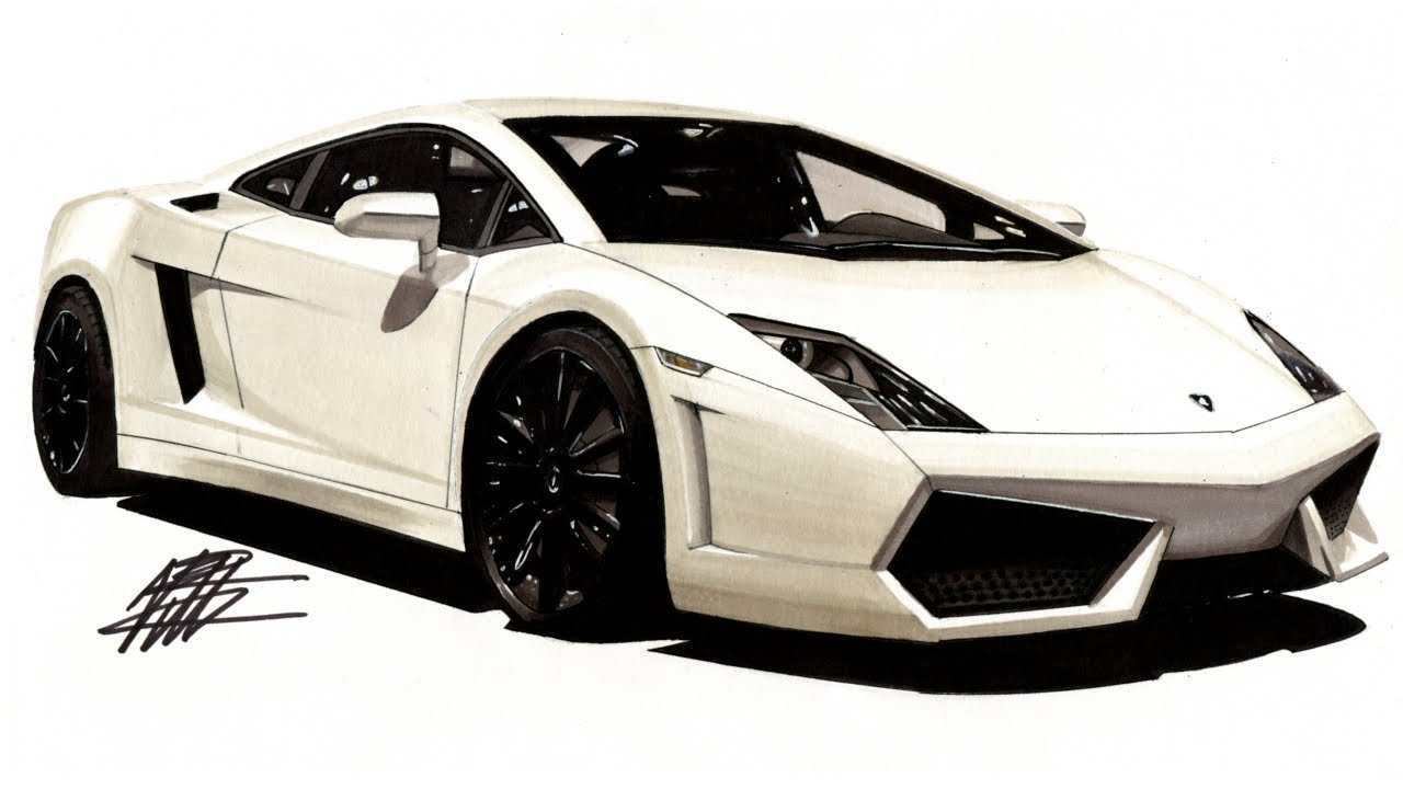 How to draw a realistic car lamborghini gallardo lp560 4 tutorial