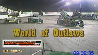 Tyler Walker vs. Donny Schatz - in car camera at Skagit Speedway World of Outlaws '09
