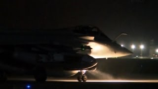 Raw: French Jets Takeoff for Raqqa Airstrike