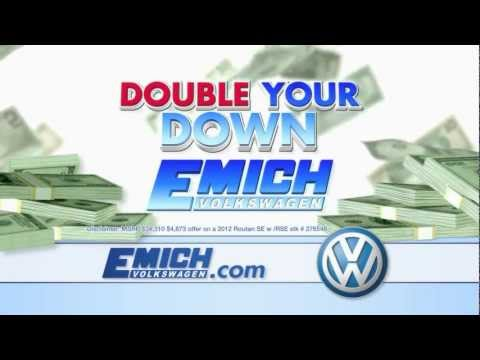 Emich Volkswagen Double Down Incentive