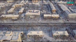 Белоснежные крыши бишкекских домов