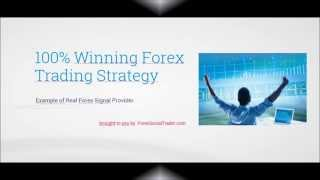 100% Winning Forex Trading Strategy Example