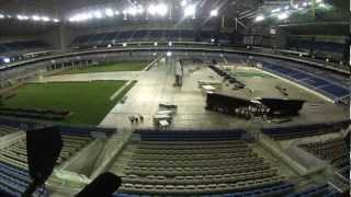 Alamodome 2013 Baseball field installation