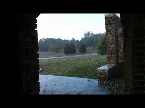 Hail storm in Spartanburg, South Carolina