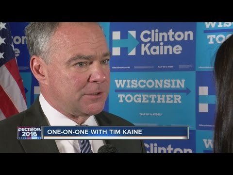 Tim Kaine, Russ Feingold rally supporters in Milwaukee