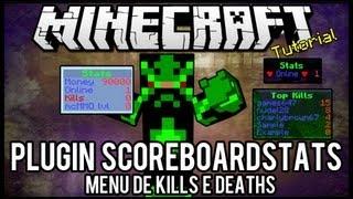 [Tutorial]ScoreboardStats - Menu de Kills e Deaths Minecraft