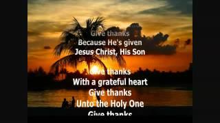 Give Thanks Don Moen Karaoke with Lyrics YouTube