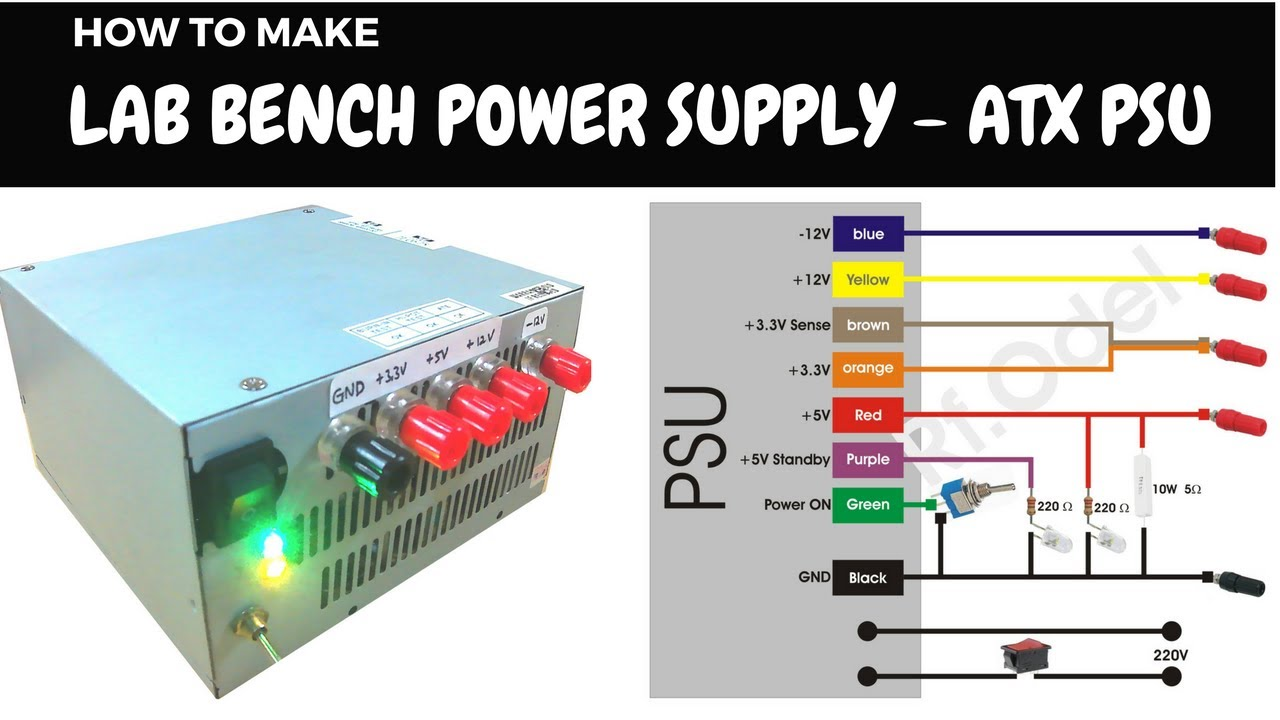diy lab bench power supply from atx psu [ 1280 x 720 Pixel ]
