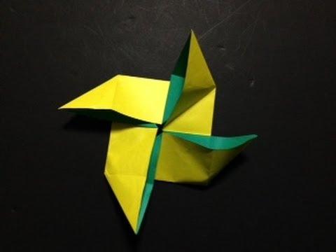 折り 折り紙 : 折り紙 風車 作り方 : youtube.com