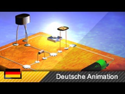 Bipolar-Transistor NPN - Funktionsweise (3D-Animation)