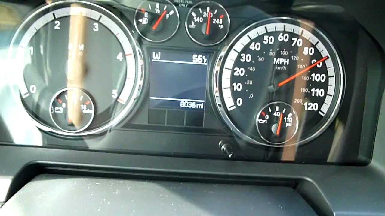 0-100mph 2011 Dodge Ram 3500 Mega Cab Dually Cummins W/G56 Manual ...