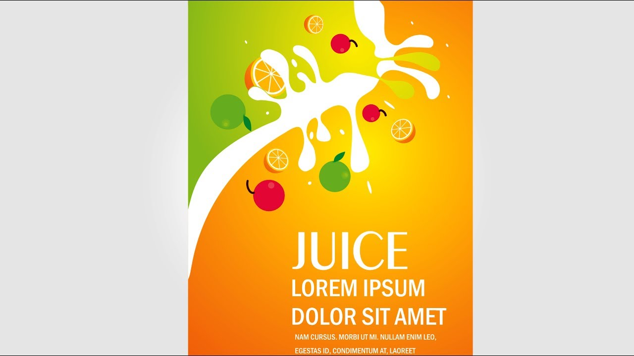 illustrator juice banner design