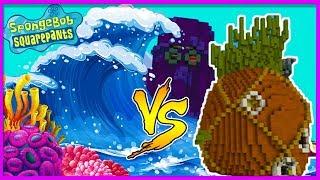 MINECRAFT TSUNAMI VS BIKINI BOTTOM BASE! (Tsunami Base Challenge)