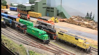 A short clip of the Saint John Society of Model Railroaders Layout & Trains 11-03-12