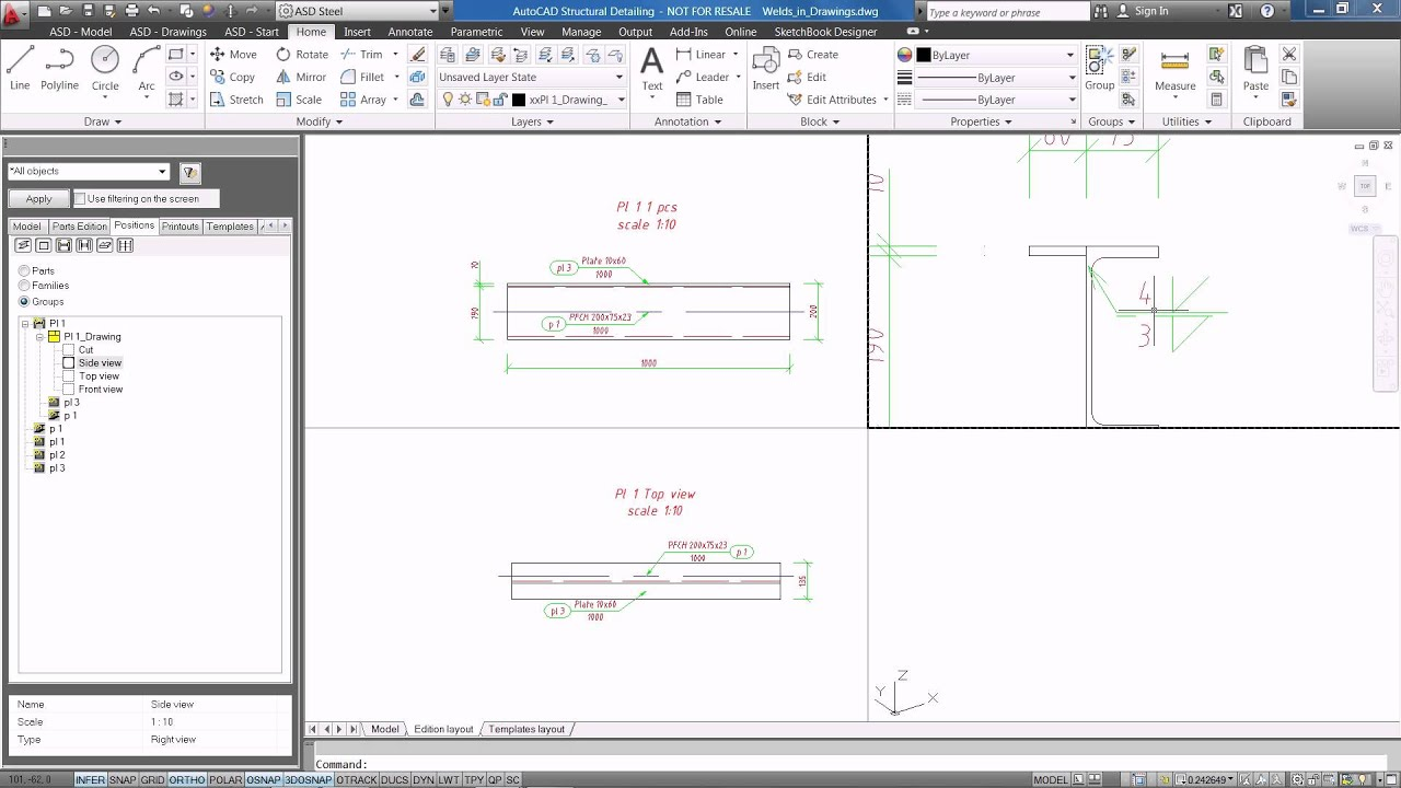 Autocad Structural Detailing 2012 Weld Symbols In Drawings Youtube