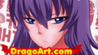 How to Draw Saeko, Highschool of the Dead, Step by Step