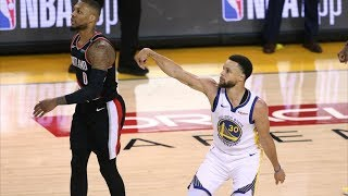 Curry 36 Points 9 Threes Game 1 vs Blazers! 2019 NBA Playoffs