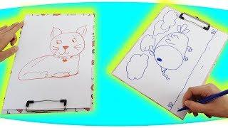 1'den 10'a Kadar Sayılarla Hayvan Çizimi, Resim Çizimi #2 - Drawing Animals With Numbers Fenomen Tv