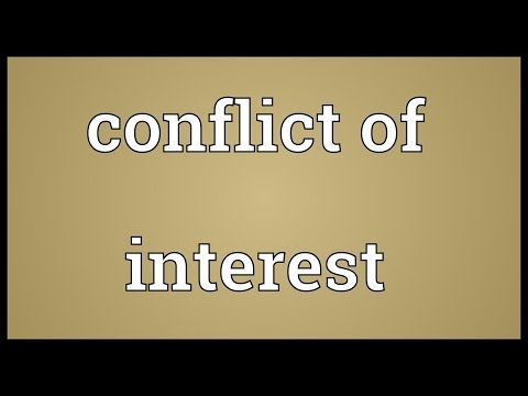 Conflict of interest Meaning