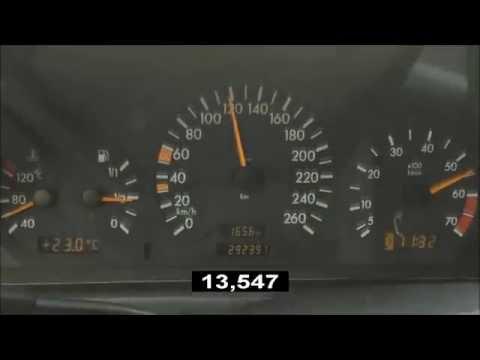 1999 Mercedes-Benz C 240 W202 0-100 km/h acceleration restyle