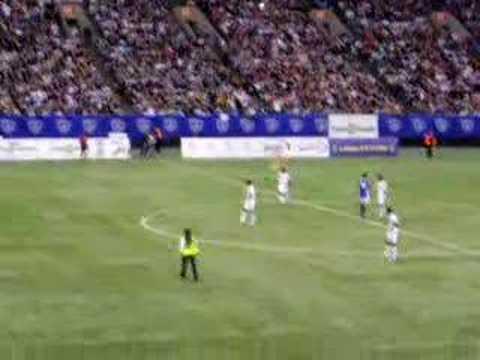 Streaker in LA Galaxy vs Vancouver Whitecaps. David Beckham