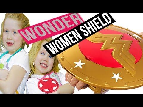 DC SuperHero Girls Wonder Women Shield Darcy and Georgiana World