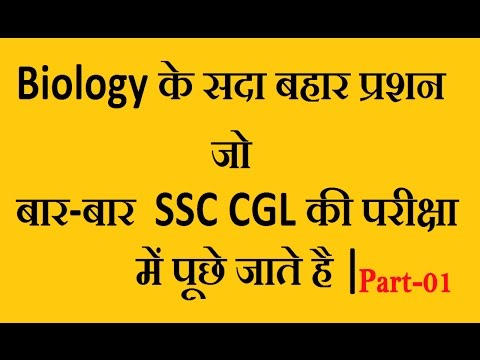ALL MCQ # BIOLOGY asked in SSC CGL from 1999 to 2016