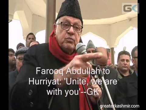 Farooq Abdullah to Hurriyat: 'Unite, we are with you'